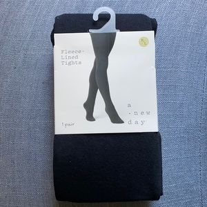 A New Day Fleece Lined Tights, M/L, NWT